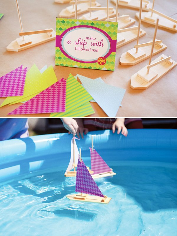 puff the magic dragon birthday party build your own ship and sail it in the pool
