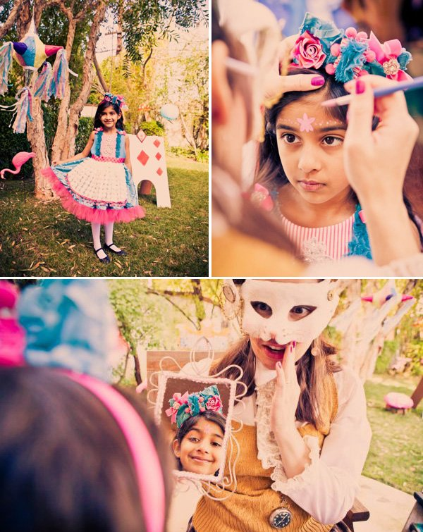 alice in wonderland birthday party face painting and dress up party activities