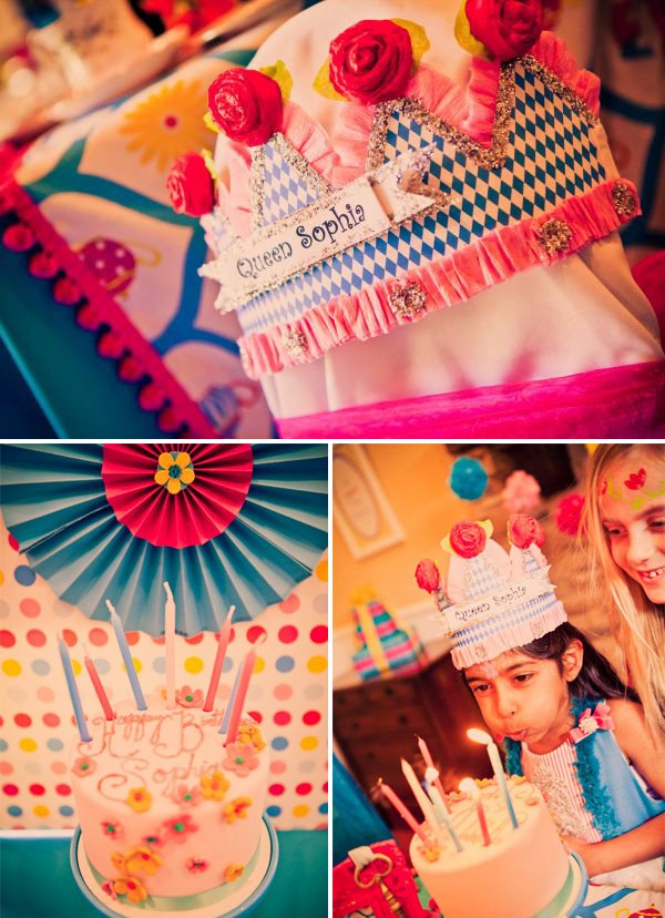 alice in wonderland birthday party birthday cake and crown