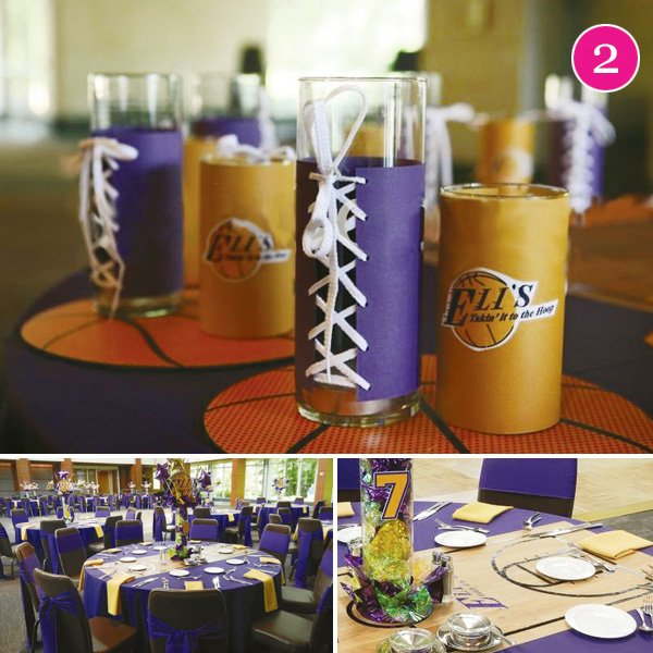 lakers bar mitzvah decoration ideas especially for lace up cups