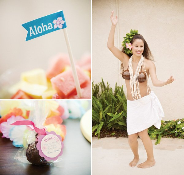 luau birthday party aloha food flags cake pop party favors and hula dancing lesson