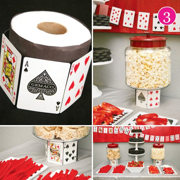 21 casino party dessert table and diy pictures for popcorn and candy stands