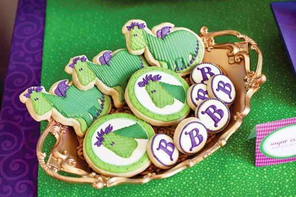 puff the magic dragon birthday party dragon cookies
