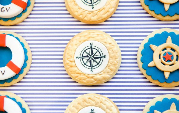 Nautical Christening Party Cookies