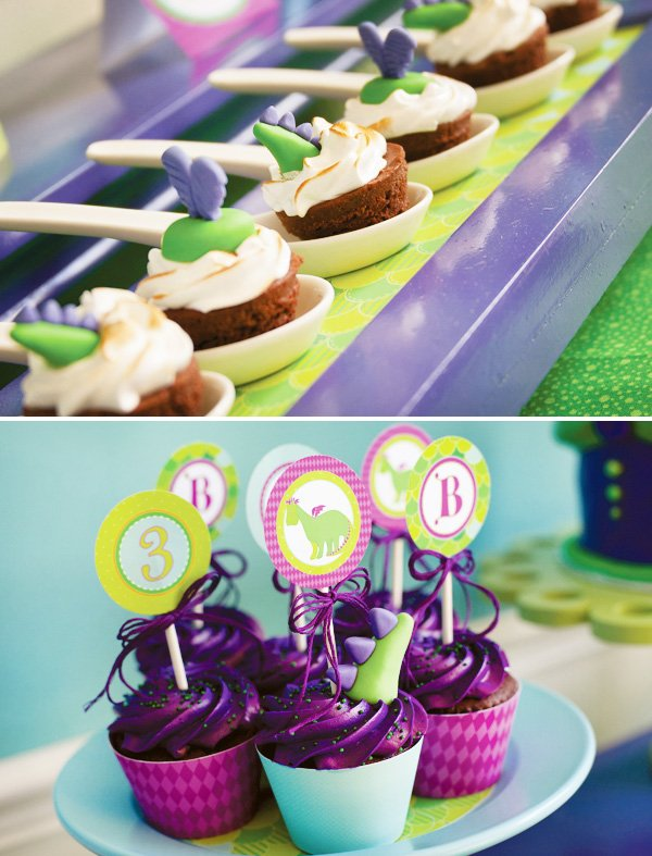 puff the magic dragon birthday party cupcakes and other desserts