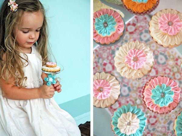 Flower Sugar Cookies displayed on The Pastry Pedestal™