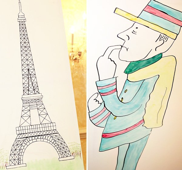 Eiffel tower drawing - Madeline party