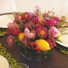 easter floral diy centerpiece with lemons