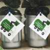 trash truck birthday party garbage can favors