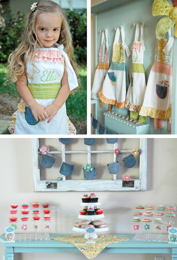 Custom Aprons and Dessert Table