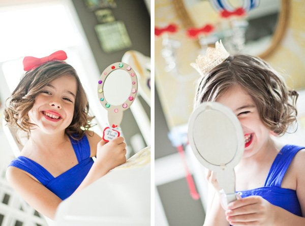 snow white fairy tale birthday party mirror decoration activity