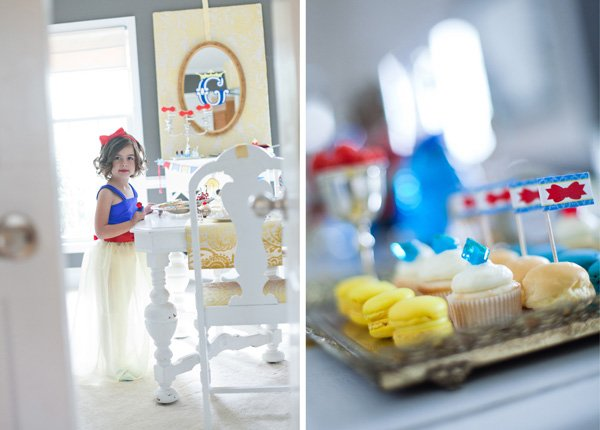 snow white fairy tale birthday party desserts