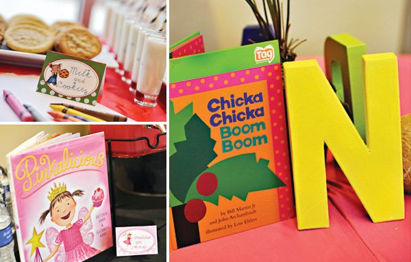 book theme baby shower centerpiece