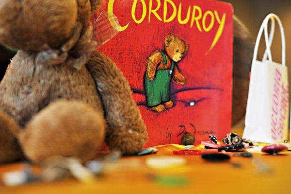 book baby shower corduroy centerpiece