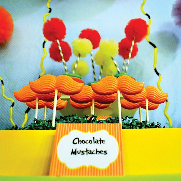 Dr. Seuss The Lorax movie Chocolate Mustache Pops