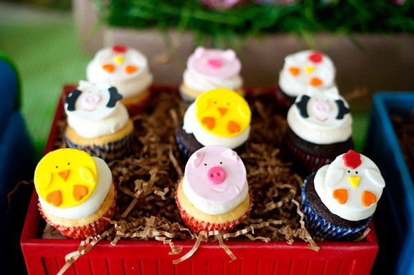 choo choo animal farm cupcake toppers