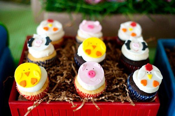 choo choo animal farm cupcake toppers