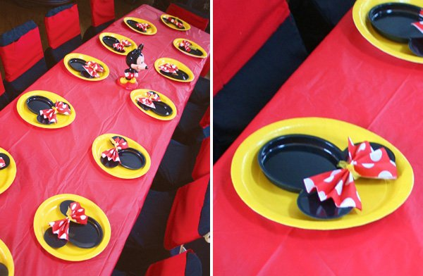 disney minnie mouse place settings