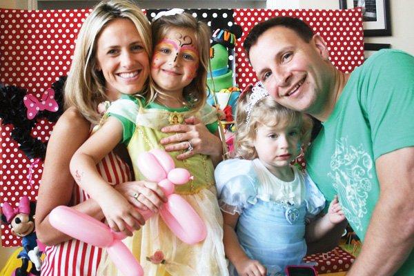 disney princess birthday party family photo