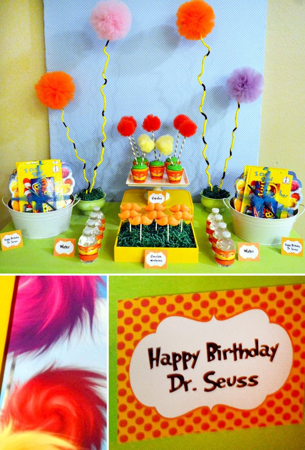 The Lorax Themed Dessert Table (Dr. Suess movie)