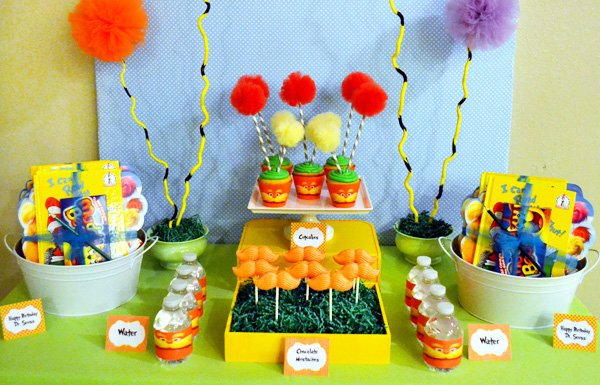 Dr Seuss The Lorax Movie Dessert Table Hostess With