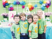 colorful easter birthday party