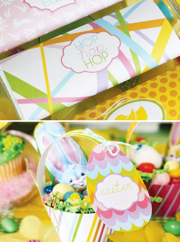 easter bunny collection chocolate bar printables and egg desserts