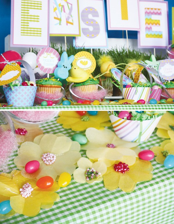 easter bunny collection sweets table beaded flower decorations