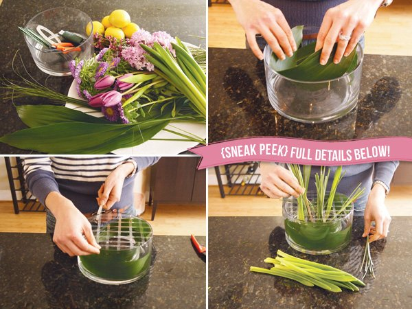 easter floral centerpiece - diy tutorial