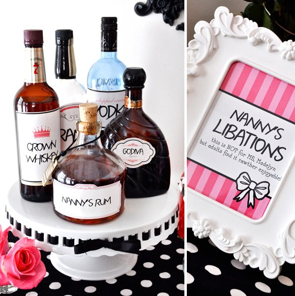 Eloise themed birthday party - adult cocktails & drinks