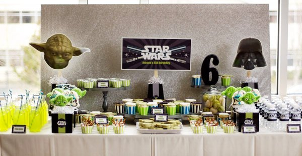 star wars dessert table for a kids party