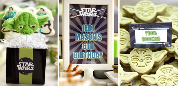 star wars birthday party yoda decorations and signs