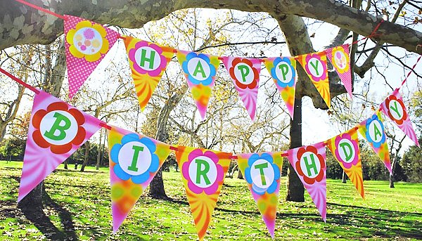 lorax party happy birthday banner