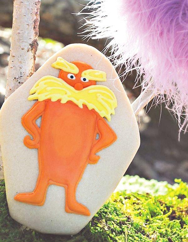 dr. suess lorax sugar cookies