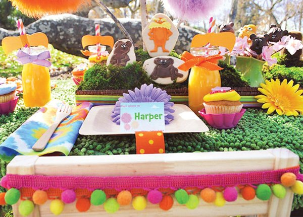lorax party place setting