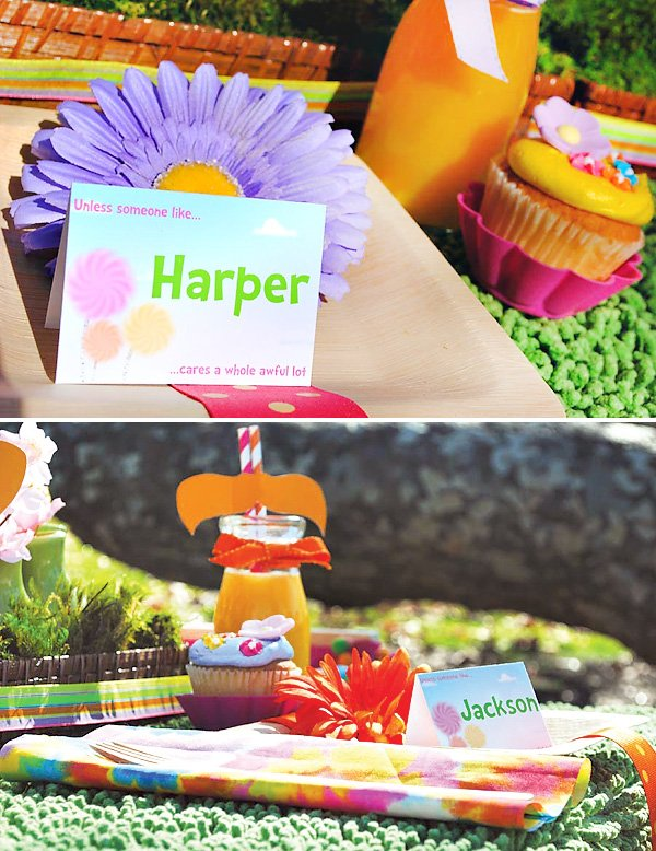 lorax party table and place setting