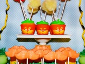 Dr. Seuss The Lorax Cupcakes and Orange Chocolate Mustache Pops