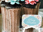 pocket full of posies parfaits - chocolate oreo milkshakes