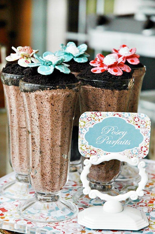 pocket full of posies parfaits - chocolate oreo milkshakes