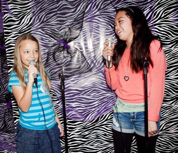 rockstar party karaoke setup