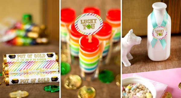St. Patrick's Day rainbow printables and rainbow jello