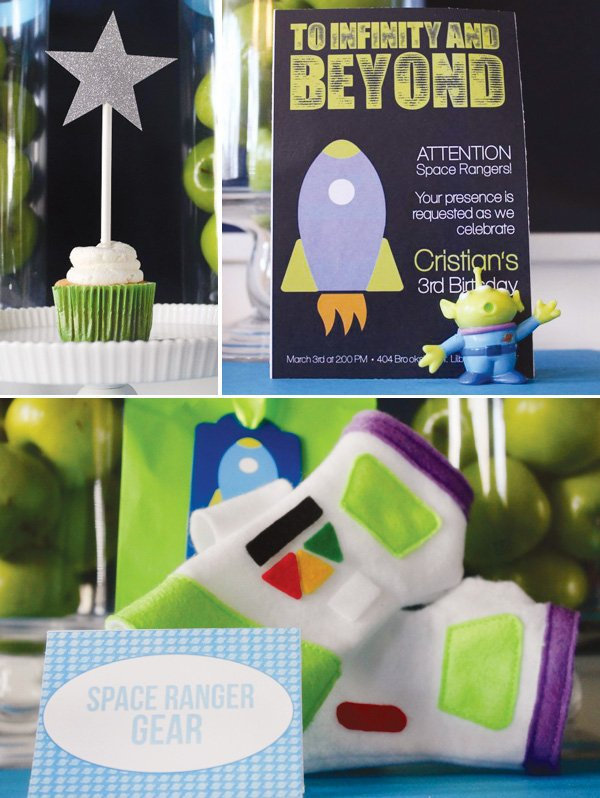 toy story space party gear and invitations