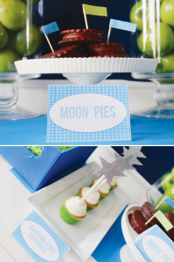 toy story space birthday party moon pie labels