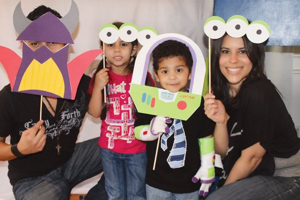 toy story space birthday party prop photo booth