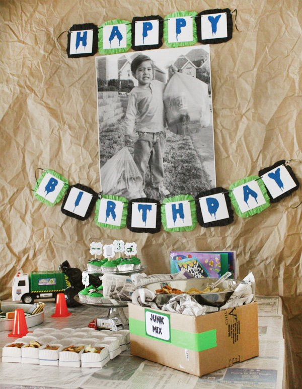 Clever 3rd Birthday Party Quot Trash Bash Quot Hostess With The
