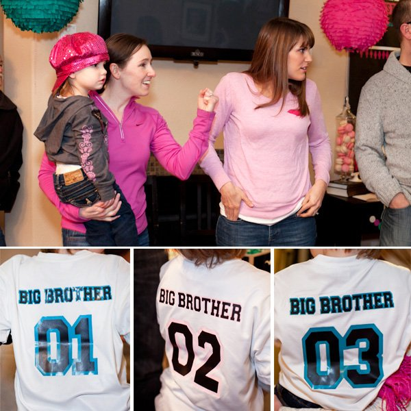 Baby Gender Reveal t-shirts and party guests