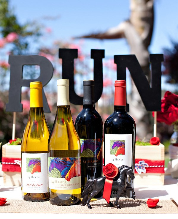14 Hands wine - kentucky derby party