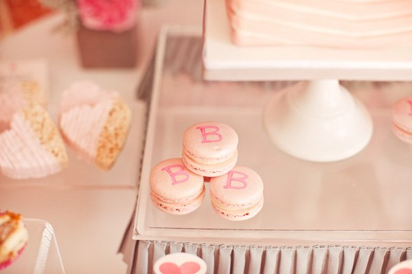 ribbons and ruffles baby shower macaroons