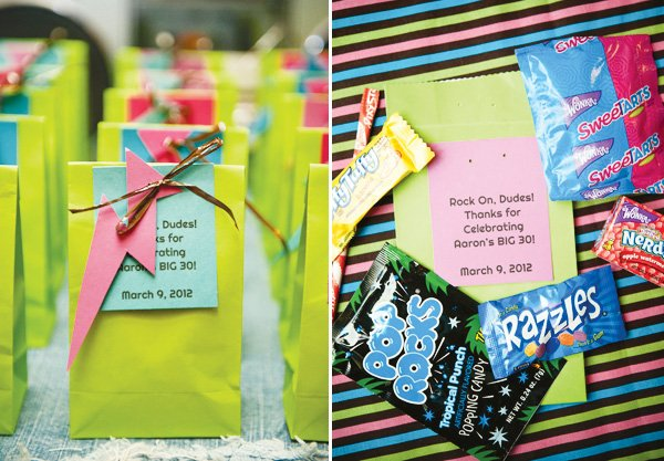 80s party ideas candy party favors