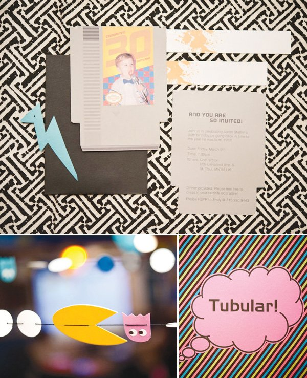 80s party ideas invitation